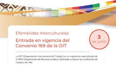 Efemérides Interculturales – Entrada en vigencia del Convenio 169 de la OIT – 3 de julio